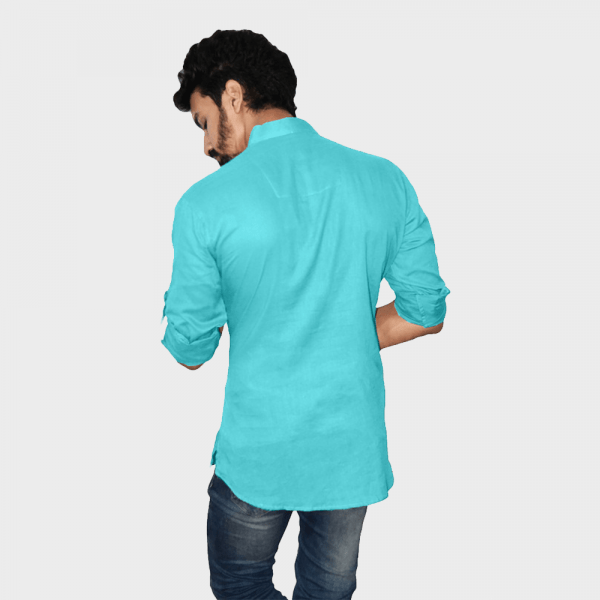 Light blue short kurtas for men