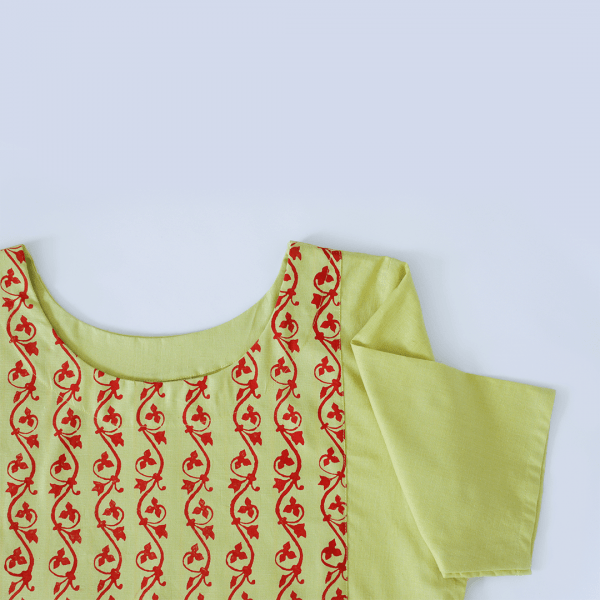 Yellow Khadi Ladies kurti